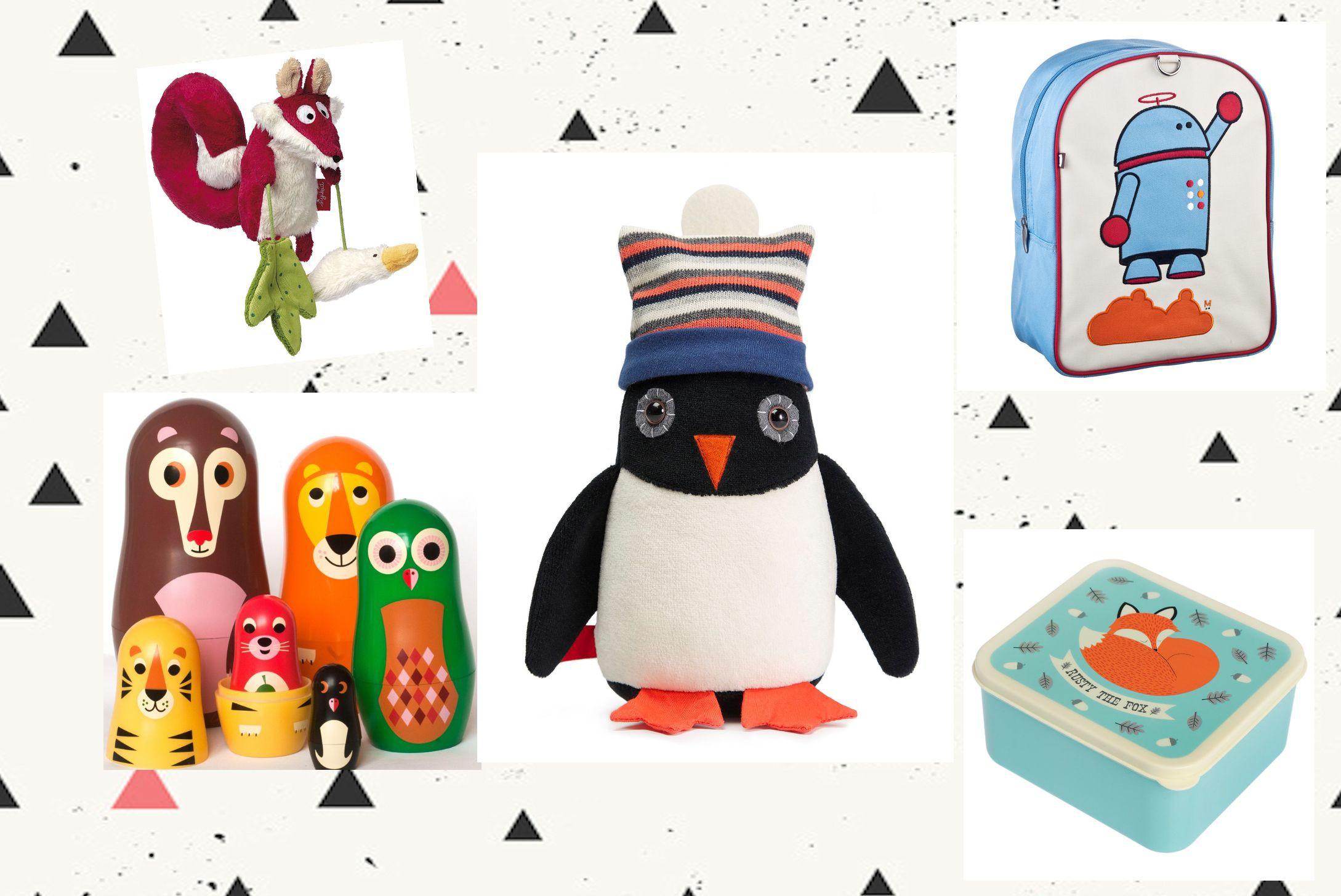 cadeau de naissance pingouin à roulettes